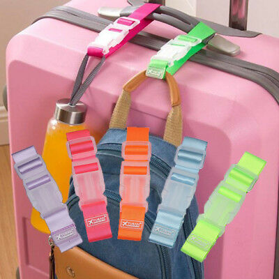 Luggage Case Straps Suitcase Clip Protect Belt Easy Adjustable Buckle Strap NEW