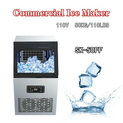 Built-In 110Lbs 230W 110V Commercial Ice Maker Ice Cube Machine 50kg Auto Bar