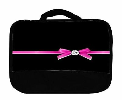 Pink Bow with Diamond Canvas Lunch Bag