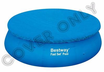 Bestway 12Ft Swimming Pool Cover Round Paddling Sheet Fast Set Garden New