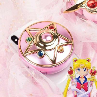 Anime Sailor Moon Crystal Star Compact Power Bank Wireless Charger Cosmetic Gift