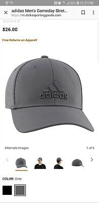 7d977279a89 ADIDAS MEN S GAMEDAY Stretch Fit Cap -  12.99