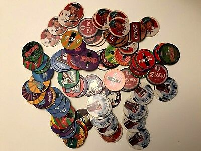 Lot of Eighty Plus (80+) Collect A Card Coca Cola Coke Caps Series 1 & 2 plus