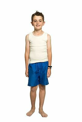 Boys Ktena Aust Made Wool Blend Thermal Singlet Vest Beige