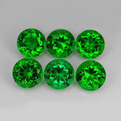 14.85 Ct Chrome Green Natural Moldavite Faceted 9 Mm Round Cut Loose Gemstone