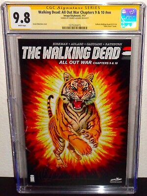 THE WALKING DEAD All Out War Chapters 9 & 10 CGC 9.8 NM Signed Charlie Adlard