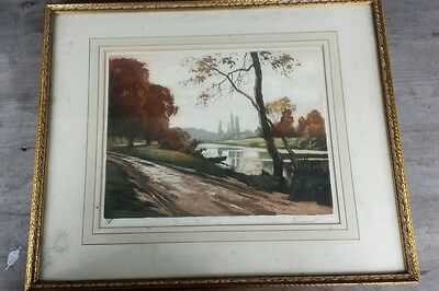 Superb 1930's Arts and Crafts French Aquatint – Sydney Zoltan Lucas Gallery