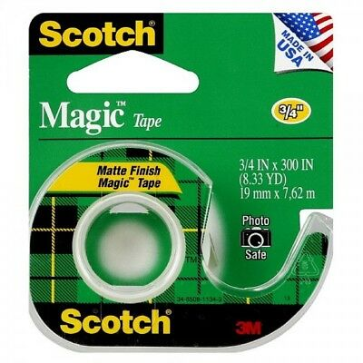 "SCOTCH - Magic Tape with Plastic Dispenser - 3/4"" x 300"""