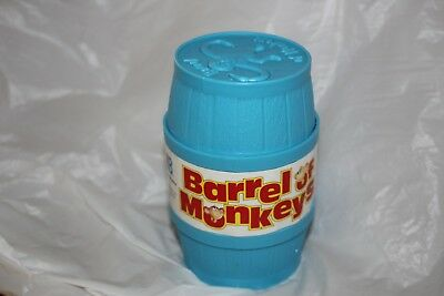 BARREL OF MONKEYS game Milton Bradley Blue box 12 pieces + instr