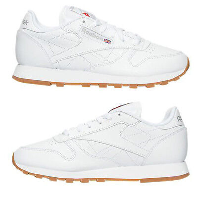 8ee44eb61c4510 REEBOK CLASSIC LEATHER GUM WOMEN s CASUAL WHITE - GUM AUTHENTIC NEW IN BOX  US SZ -  134.99