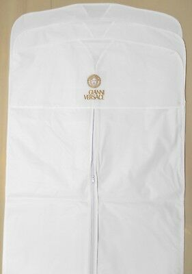 """3 VERSACE Garment Bags White VINYL 22""""x38"""" for Suit Shirt Travel or Storage -NEW"""