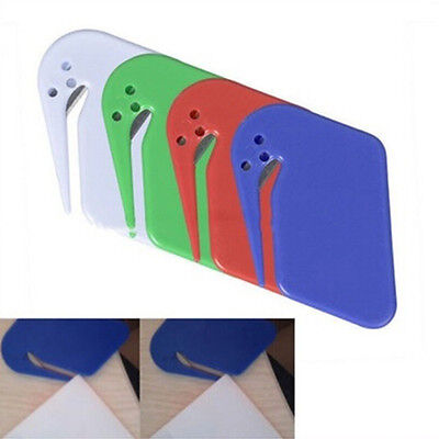 1x Letter Opener Office Envelope Cutter Safety Guard Sharp Plastic High Quantity