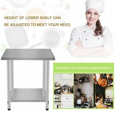 """24""""x30"""" Kitchen Work Prep Table with Backsplash Business Stainless Steel House"""