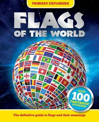 Flags of the World with 100 Stickers Primary explorers NEW paperback book