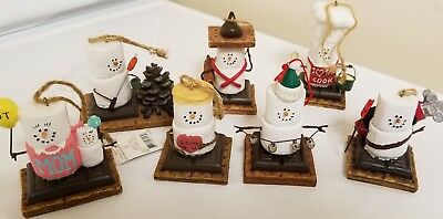 The S'mores Original Midwest Of Cannon Falls 7 S'mores Ornament Figures Lot