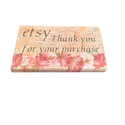 Etsy seller thank you business cards 5 five star feedback 100 etsy seller thank you business cards 5 five star feedback 100 flowers theme colourmoves