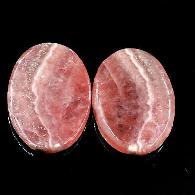 Cts. 39.30 Natural Matching Pair Rhodochrosite Cabochon Oval Exclusive Gemstone