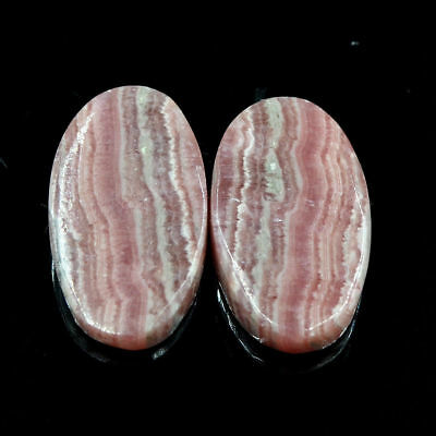 Cts. 32.05 Natural Matching Pair Rhodochrosite Cabochon Oval Exclusive Gemstone