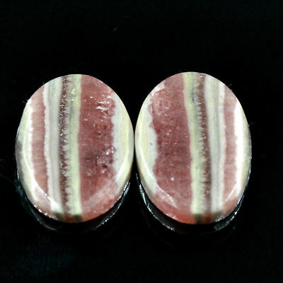 Cts. 27.35 Natural Rhodochrosite Cabochon Oval Matching Pair Loose Gemstones