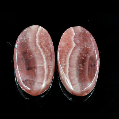 Cts. 30.55 Natural Matching Pair Rhodochrosite Cabochon Oval Loose Gemstone