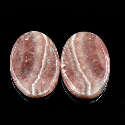 Cts. 27.40 Natural Rhodochrosite Cabochon Loose Oval Matching Pair Gemstone