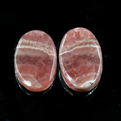 Cts. 27.20 Natural Matching Pair  Rhodochrosite Cabochon Oval Exclusive Gemstone