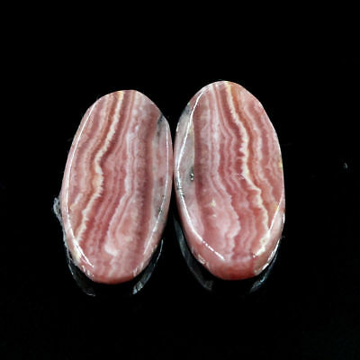 Cts. 15.60 Natural Rhodochrosite Oval Matching Pair Cab Loose Gemstone