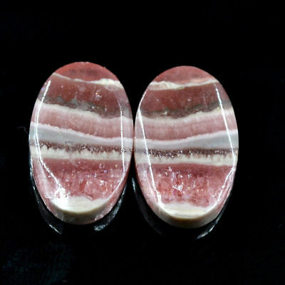 Cts. 20.75 Natural Rhodochrosite Matching Pair Oval Cab Exclusive Gemstone