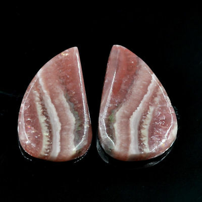 Cts. 26.70 Natural Rhodochrosite Matching Pair Fancy Pear Cabochon Gemstone