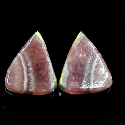 Cts. 16.95 Natural Rhodochrosite Matching Pair Pear Cabochon Loose Gemstone