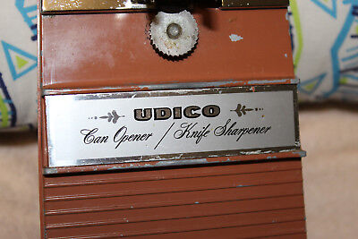 Vintage Udico Electric Can Opener, Made In USA, 1967, sturdy construction, heavy