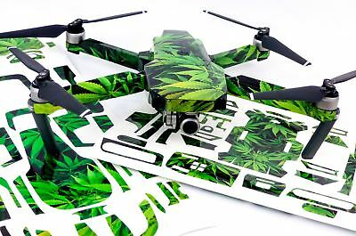 Weed Drone Decal Skin Wrap Stickers for DJI Spark, Mavic Air, Mavic Pro