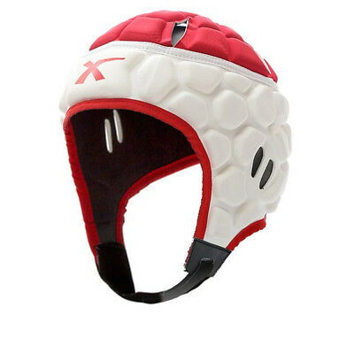 X Blades Elite Rugby Headguard Scrum Cap Head Protection Red / White