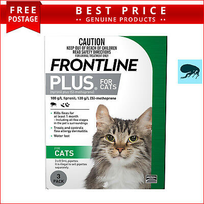 Frontline Plus for Cats & Kittens 3 Doses Flea Treatment by Merial