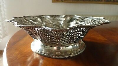 Christofle France. Beautiful antique Silverplate Braided basket dish. XIXth.