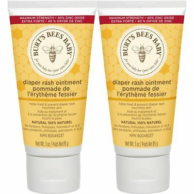 Burt's Bees Baby Bee 100% Natural Diaper Rash Ointment - 3 Ounce Tube Pack of 2
