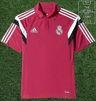 Real Madrid Polo Shirt - Official Adidas Training Wear - Mens - All Sizes