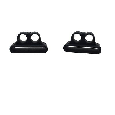 2 X Portable Antichoc Holder Antichoc Strap Case pour Apple AirPods Noir