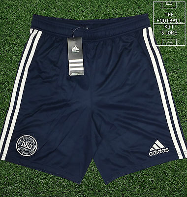 Denmark Training Shorts - Official Adidas Boys Football Shorts - All Sizes