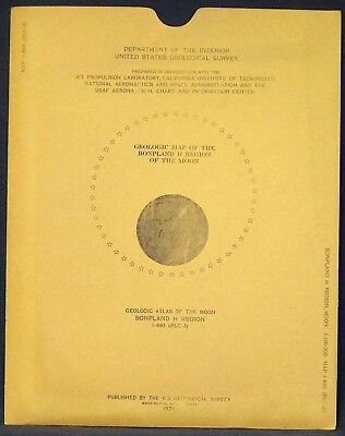 USGS APOLLO BONPLAND H REGION LUNAR GEOLOGIC MAP, 1971, I-693 Scarce RANGER VII