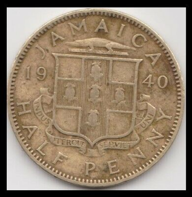 1940 Jamaica Half Penny km 31 Very Nice Coin See Scans and You Grade