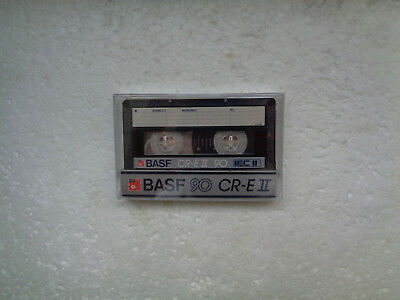 Vintage Audio Cassette BASF CR-E 90 * Rare From 1985 * Transparent Wrapping