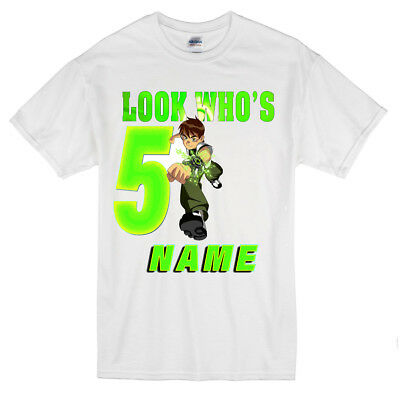 Ben 10 Birthday T Shirt Personalised With Any Name Number Size 1 13