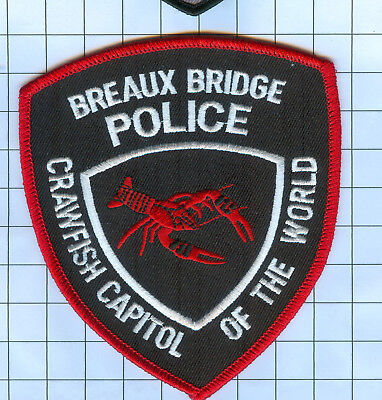 Police Patch  - Louisiana - BREAUX BRIDGE CRAWFISH CAPITOL OF THE WORLD