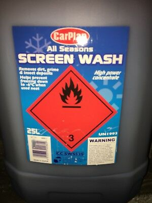 Car Plan  All Seasons Screen Wash  25 LTR Concentrated screen wash Free deliver