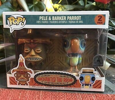 Disney Funko Pop Enchanted Tiki 55th Anniversary Set Pele & Barker Parrot 6/23