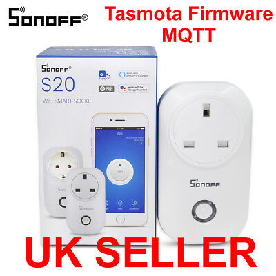 SONOFF S20 FLASHED Tasmota MQTT Smart Home Wifi switch (Home Assistant,  openHAB)