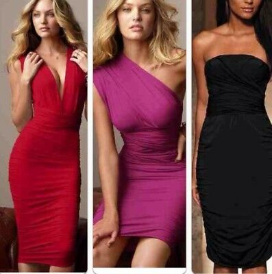 Victorias Secret Multiway Ruched Convertible Very Y Pink Dress Sz S