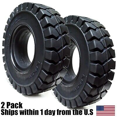 2PK 6.00-9 Tires Solid Solver Forklift Tire 6.00/9 Flat Proof 6009
