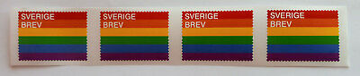 """PostNord Swedish collectable philotely rare stamp """"Pride"""" Rainbow Flag (2016)"""